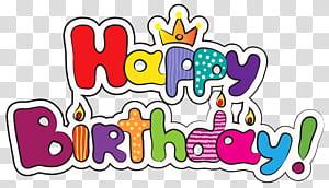 Bolo de aniversário, feliz aniversário colorido, sobreposição de texto feliz aniversário png