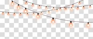luzes de corda pretas ligadas, lâmpada de luz, corda de luz decorativa PNG clipart