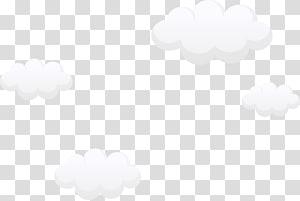 ilustração de quatro nuvens brancas, preto e branco padrão de céu, desenhos animados lindas nuvens brancas PNG clipart