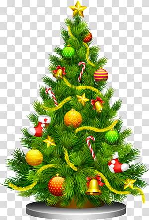 Árvore de Natal, árvore de Natal, ilustração verde da árvore de Natal PNG clipart