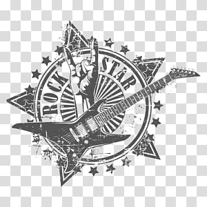 Ilustração do logotipo RockStar, Rock euclidean Illustration, Rock png