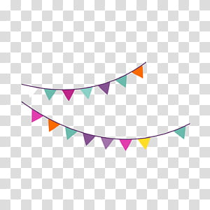 Ícone de festa de aniversário, festa de aniversário dos desenhos animados, bandeira de suspensão, ilustração de buntings de cor preta e sortida PNG clipart