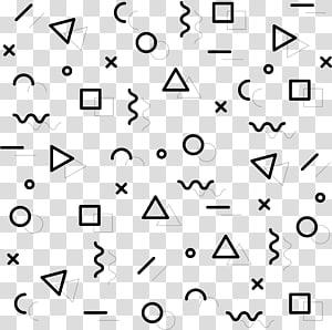 de formas variadas, padrão de meio-tom, padrão geométrico abstrato PNG clipart