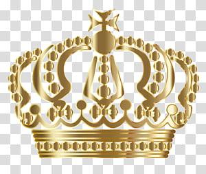 coroa de ouro, ilustração criativa de coroa de ouro PNG clipart