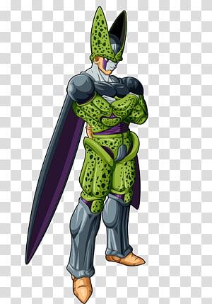 Arte final da forma de Dragon Ball Z Cell, Goku Vegeta Gohan Majin Buu Piccolo, VİLLAİN png