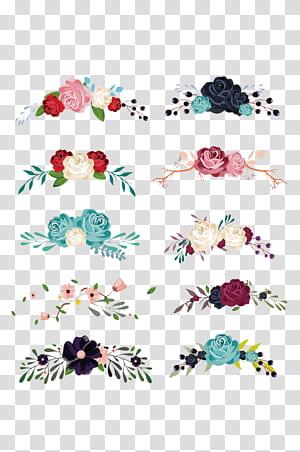 Flor euclidiana, material de coleção de decoração Floral, ilustração de flores png