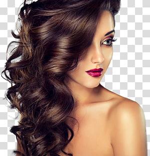 mulher com batom vermelho, salão de beleza cabelo artificial integrações cabelo penteado colorir dia spa, estilo de cabelo PNG clipart