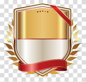 Papel de etiqueta da fita, etiqueta dourada com fita de ouro, logotipo do jogo png