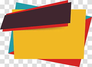 Ícone euclidiano de banner de vendas, caixa de título de cartaz de gengibre, resumo de cores sortidas png