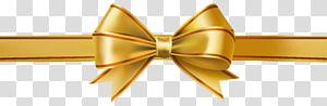 Fita, laço dourado, fita amarela png