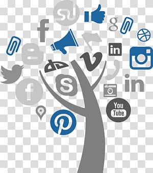 apresentação Social media logo illustration, Social media marketing Apresentação SlideShare SlideShare Medição de mídia social, Árvore Social PNG clipart