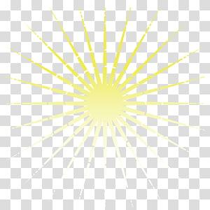 Luz amarela Facula ouro, raios de sol amarelo, luz solar PNG clipart