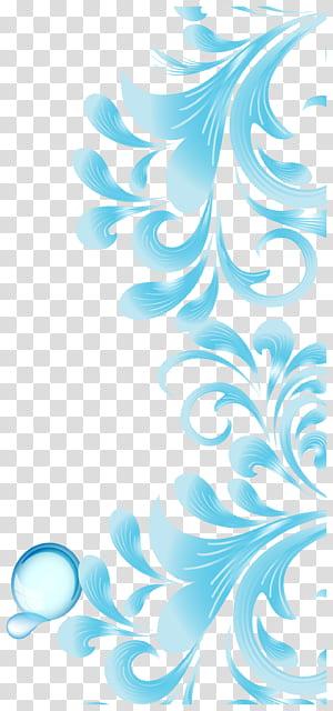 Brochura Flyer, céu azul padrão abstrato, respingos de água azul PNG clipart