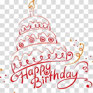 Bolo de aniversário Ilustração de festa, feliz aniversário, ilustração de bolo feliz aniversário png