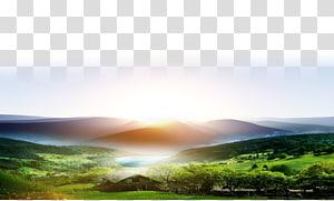 casa perto do corpo de água e floresta, Morning Dawn Sunrise Day, sunrise PNG clipart