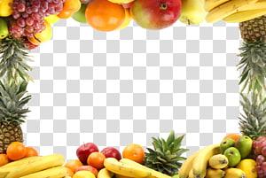 ilustração de fronteira de frutas sortidas, dieta saudável de vegetais de frutas, padrão de fronteira de frutas png