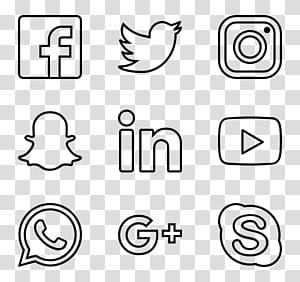 Ícones de computador PostScript encapsulado, ícones de mídia social PNG clipart