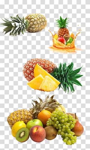 ilustração animada de frutas sortidas, suco tropical de suco de espremedor de frutas, abacaxi de frutas tropicais png