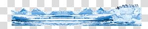 Geleira de pinguim de iceberg, iceberg PNG clipart