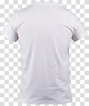 camiseta branca, camiseta com gola polo, colarinho de manga, camiseta branca PNG clipart