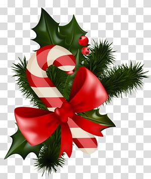 Bastão de doces Visco decoração de Natal, bastão de doces de Natal com visco, visco com ilustração de bastão de doces png