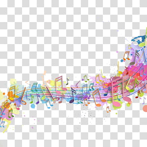 Convite de casamento Concerto Música de fundo Poster, notas de cor, ilustração de obras de arte de notas musicais PNG clipart