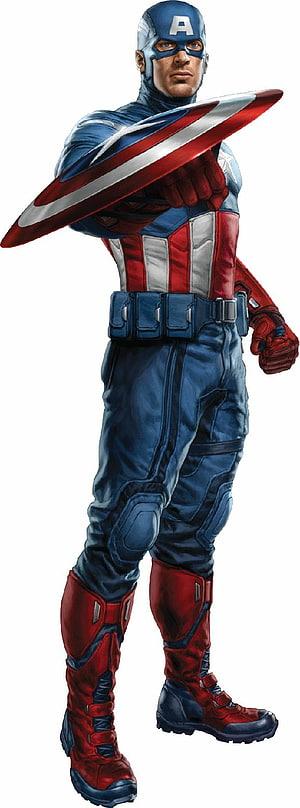 Capitão América segurando escudo, Capitão América Os Vingadores decalque em parede Marvel Cinematic Universe Superhero, Designs Capitão América png