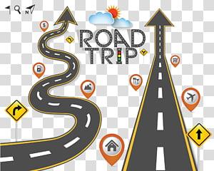 Obras de arte de Road Trip, Road Trip Travel, Winding road png