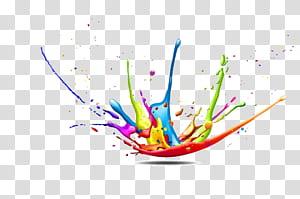 Modelo de cor CMYK respingo de tinta, cor respingo fundo figura decorativa, ilustração de respingo de tinta png