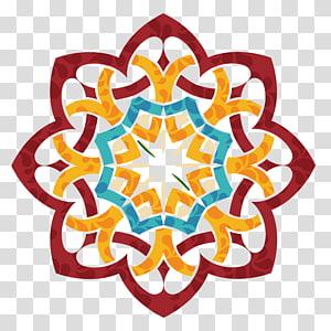 Eid al-Fitr Convite de casamento Eid al-Adha Ramadan Eid Mubarak, cartão de festival de tatuagem indiano, vermelho, azul-petróleo e ilustração floral laranja PNG clipart