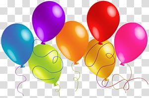 Balão, grandes balões coloridos, ilustração de balões de cores sortidas PNG clipart