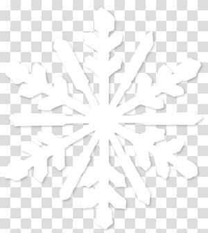 Simetria linha ponto preto e branco padrão, floco de neve, ilustração de floco de neve branco PNG clipart