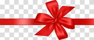 fita vermelha, fita de presente, laço de presente festivo PNG clipart