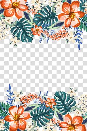 grinalda da pintura da aguarela da flor do convite do casamento, projeto pintado à mão fresco e elegante do laço, flores coloridos png