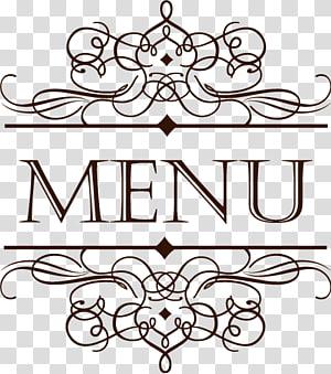 Menu Cafe Restaurant Carta de vinhos, Renda de estilo europeu, Logotipo do menu png