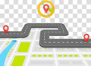 aplicação de mapas, infográfico de superfície de estrada, mapa 3D png