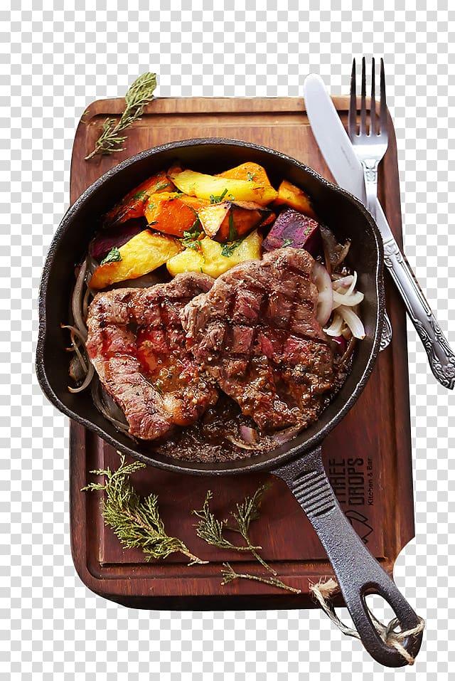 carne frita, bife pimenta bife de carne, bife pimenta preta PNG clipart