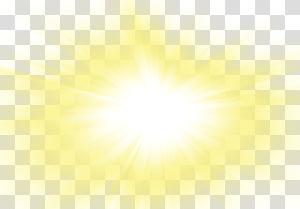 ilustração de sol amarelo, eficácia de luz solar, belo lindo sol dourado raios sol brilho PNG clipart