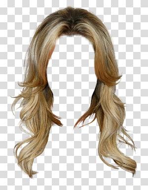 ilustração de peruca loira, roupas de cabelo comprido peruca, estilo ocidental peruca de cabelo dourado Livre para puxar o material PNG clipart