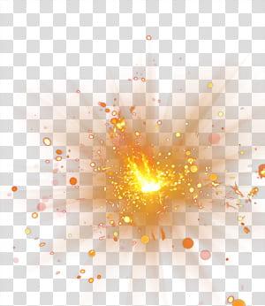 Explosão, efeito de luz Spot, laranja projetado PNG clipart
