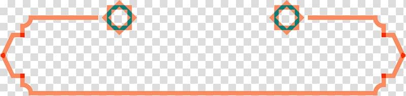 modelo de borda geométrica rosa, laranja, linhas laranja PNG clipart
