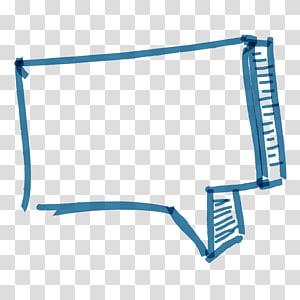 caixa de diálogo caixa de desenho retangular azul abstrato png