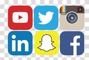 Social media marketing Rede social Ícone, arquivo de mídia social, logotipos do YouTube, Instagram, Twitter, Snapchat e Facebook PNG clipart