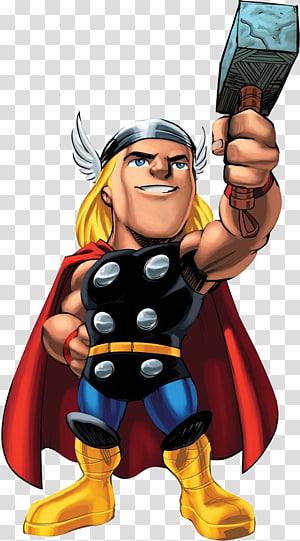 Ilustração de Thor, Marvel Super Hero Squad Online Marvel Super Heroes Squad Marvel Super Hero: The Infinity Gauntlet Thor, super-herói png