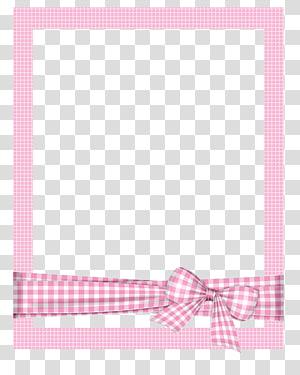 moldura, moldura pintada à mão dos desenhos animados, moldura xadrez rosa, moldura quadrada rosa e branca com fita PNG clipart