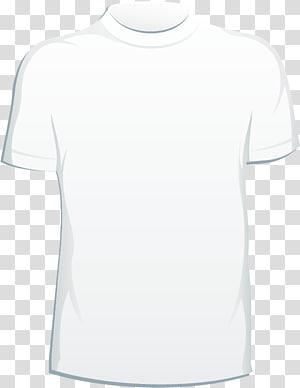 ilustração de camiseta branca de gola alta, camiseta branca, camisetas PNG clipart