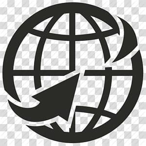 Desenvolvimento Web World Wide Web Computer Icons Website, ícone da World Wide Web, globo com logotipo de seta PNG clipart
