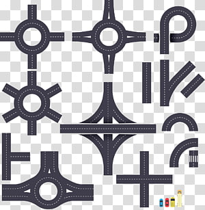 estrada de asfalto, rotunda junção rodoviária euclidiana, estrada png