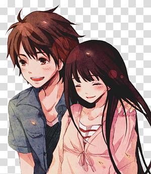 Ilustração de homem e mulher, Anime Shu014djo manga Kimi ni Todoke casal, Anime amor casal grátis PNG clipart