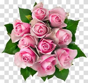 Buquê de flores Rose Pink, Pink Roses Bouquet, buquê de rosas cor de rosa PNG clipart